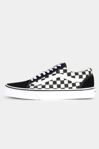 Old Schoenol Primary Check Sneakers Black/White