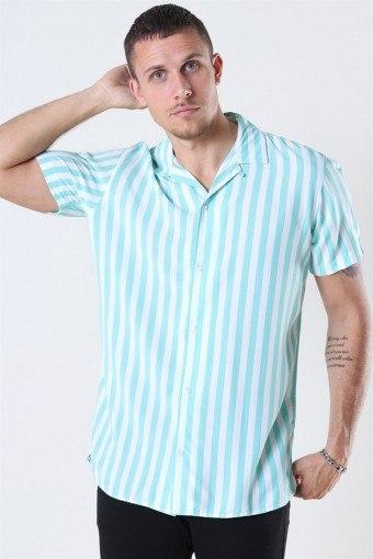 Tyler Overhemd SS ORG Aqua Sky