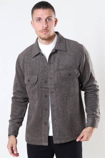 Glixto Wool Overshirt Brown