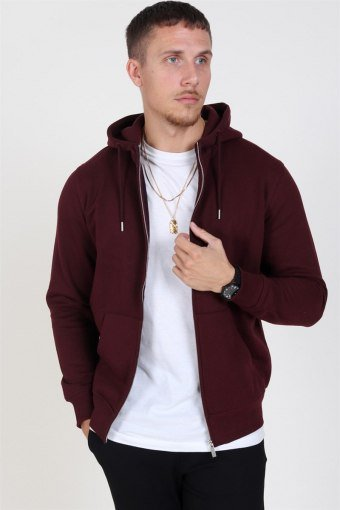 Organic Morgan Zip Sweat Wine Red Mel