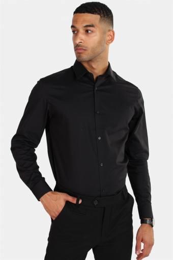Non Iron Overhemd L/S Black
