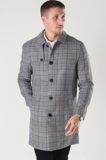 Archer Check Carcoat Black/Checks
