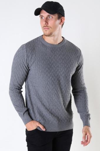 Bertil Cotton crew neck knit Anthracite