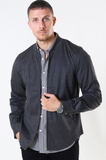 Clean Cut Ken Overshirt Dark Grey/Camel