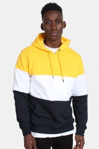 Klokban Classics TB1870 3-Tone Hoodie Chrome Yellow/White/Navy