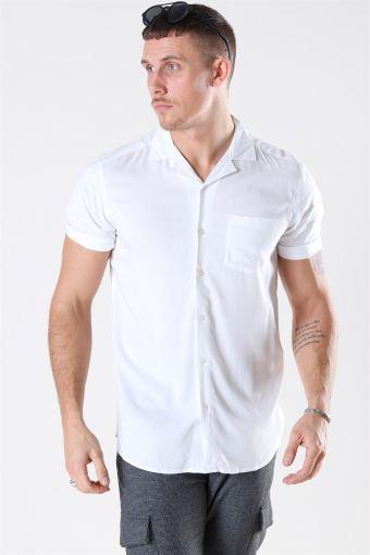Silo Solid Viscose Overhemd White