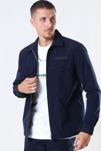 Klarc Zip Overhemd Navy