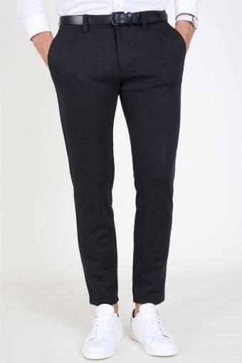 Mark Herringbone Pants Grey Pinstripe