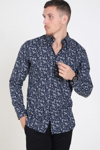 Jack & Jones Focus Paisley Overhemd Navy Blazer
