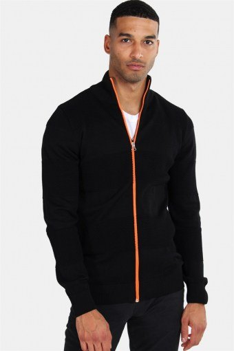 Jacob Zip Breien Black/Orange