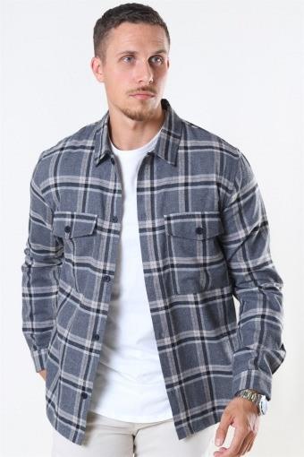 Minex Overhemd Grey Mellange