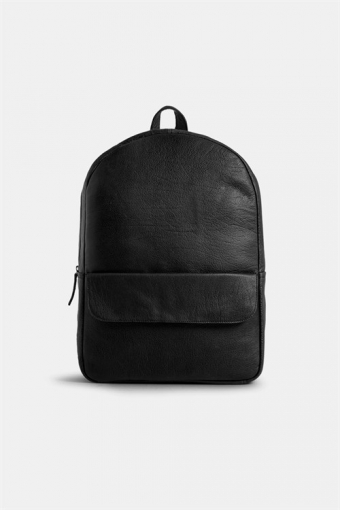 Frill Flap Pocket Backpack Black