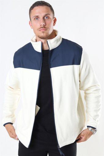 Fleece Zip Puller Jas Off White