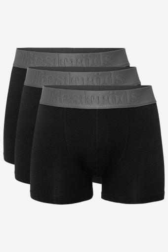 Resteröds Bambu 3-Pack Gunnar Boxers Black/Grey