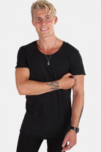 Jack & Jones T-shirt Neck Noos Black Detail Reg Fit
