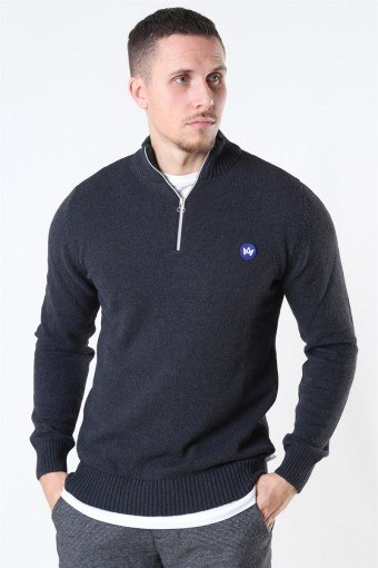 Liam Half Zip Recycle Breien Charcoal