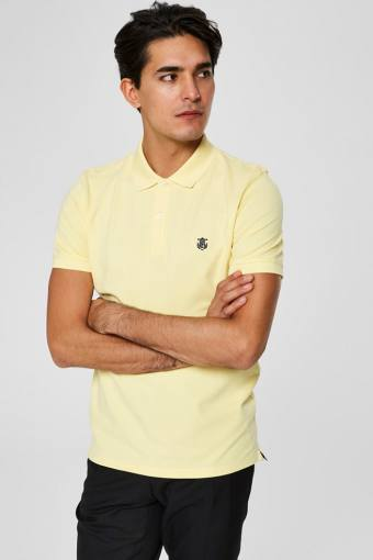 Aro S/S Embroidery Polo Overhemd W Noos Mellow Yellow