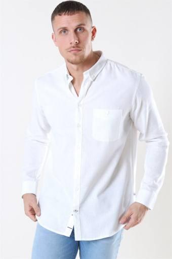 Johan Linen Overhemd White