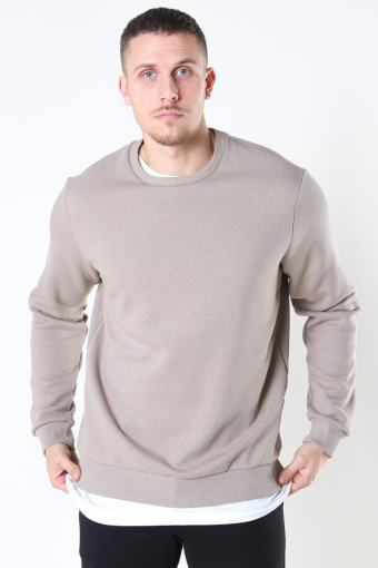 Only And Sons Ceres Life Crew Neck Chinchilla