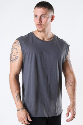 Klokban Classics Open Edge Sleeveless T-shirt Dark Shadow