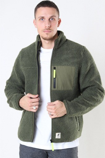 Hugh Fleece Jas Beetle Green