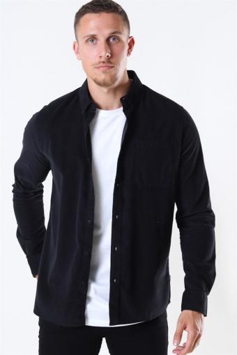 Juan LS Corduroy Overhemd Black