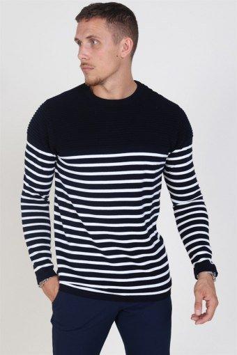 Link Stripe Breien Navy/Off White