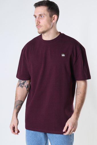Martin Recycled cotton boxfit t-shirt Sangria