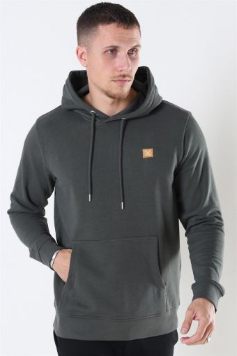 Clean Cut Basic Organic Hoodie Bottle Green