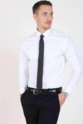 Slim-Michigan LS Overhemd Bright White