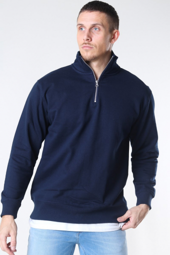 Quarter Zip Sweat Blue Navy