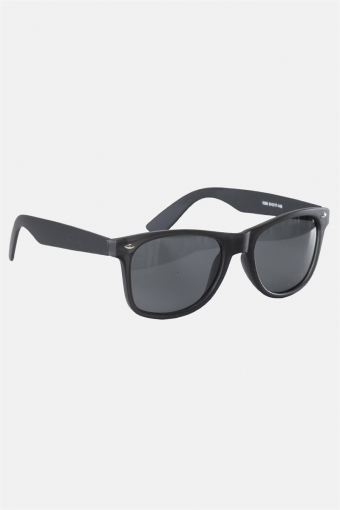 Fashion 1398 Wayfarer Zonnebril Black Rubber Grey Lens