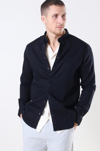 Johan Denim Overhemd Black