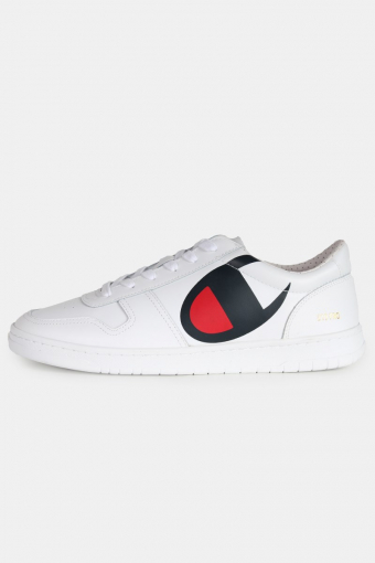 919 Pro Low Top 'C' Patch Sneakers White
