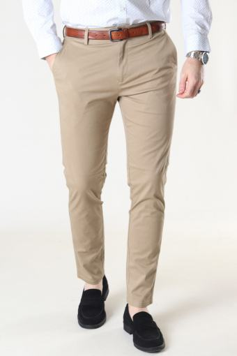 Milano Drake Stretch Pants Khaki