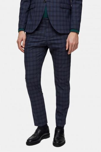 Slim-Mylo Logan Pants Check Navy Blue