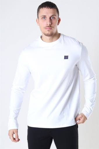 Clean Cut Basic Organic T-shirt LS White