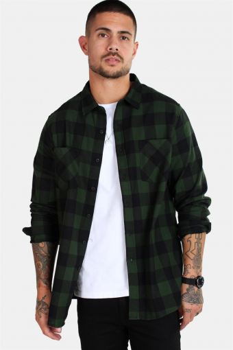 TB297 Checked Flanell Overhemd Black/Forest