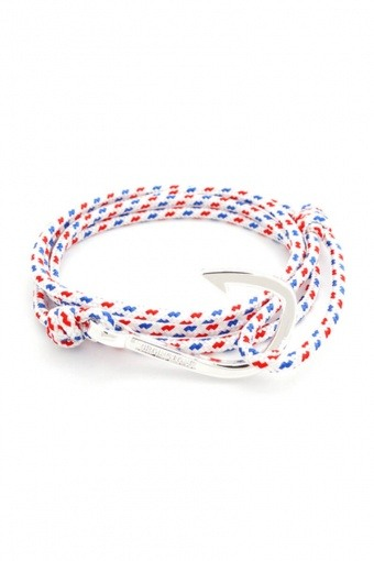 Hook Armband White/Red/Blue/Silver