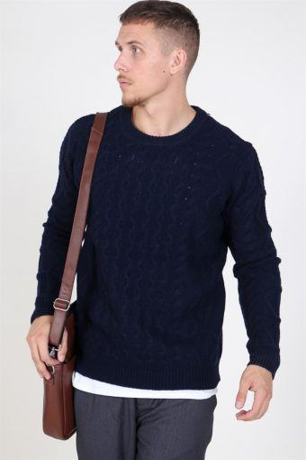 Pigalle Cable Breien Dark Navy