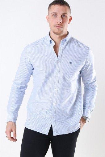 Collect Overhemd White/Light Blue Stripe