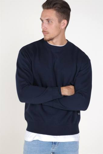 Soft Sweat Crew Neck Navy Blazer