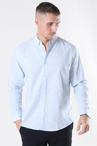 Clean Cut Cotton Linen Overhemd Sky Blue