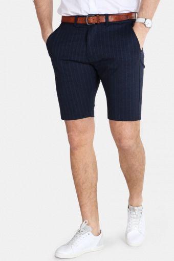 Jason Chino Pinstripe Shorts Navy