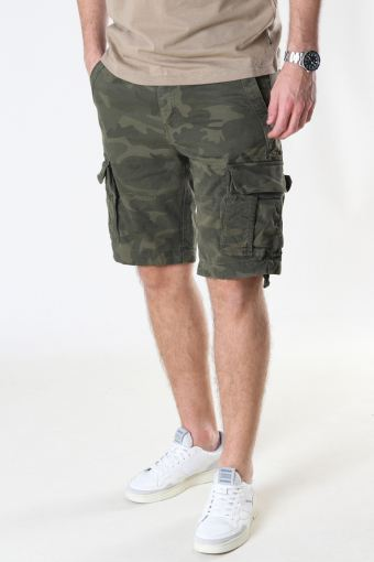 Rufo Cargo Shorts Camouflage Green