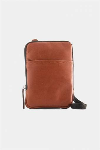 Clean Mini Messenger Bag Cognac