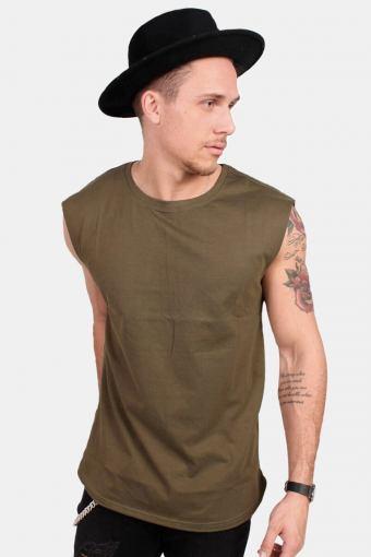 Klokban Classics TB1562 Open Edge Sleeveless T-shirt Olive