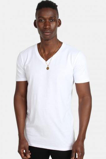 Klokban Classics TB1559 Basic V-Neck T-shirt White