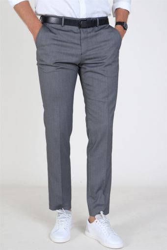 Slim Mylo Logan StructKloke Pants Dark Grey Melange