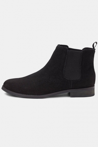 Suede Chelsea Boots Black